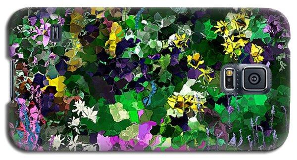 Galaxy S5 Case featuring the digital art Flower Garden by David Lane