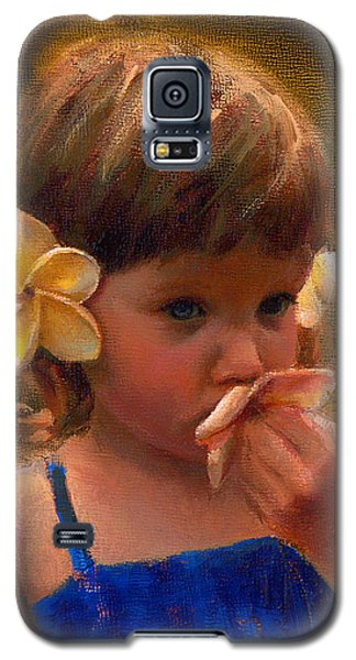 Flower Girl - Tropical Portrait With Plumeria Flowers Galaxy S5 Case