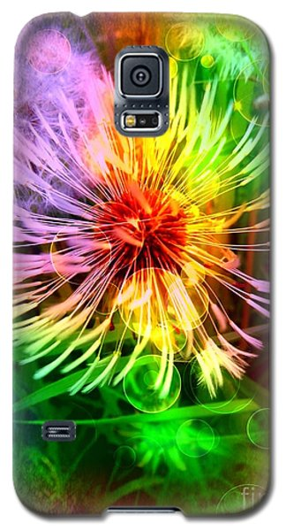 Galaxy S5 Case featuring the digital art Flower Light by Nico Bielow