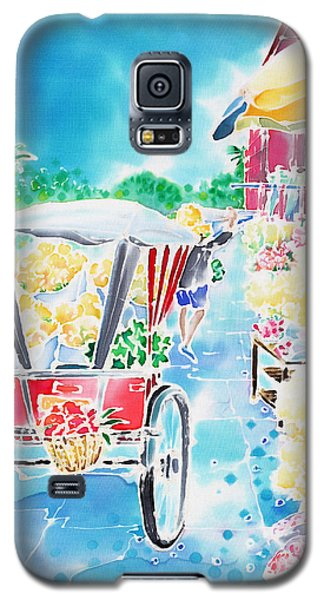 Flower Market  In Chiang Mai Galaxy S5 Case
