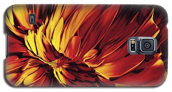 Galaxy S5 Case featuring the digital art Flower by Matt Lindley