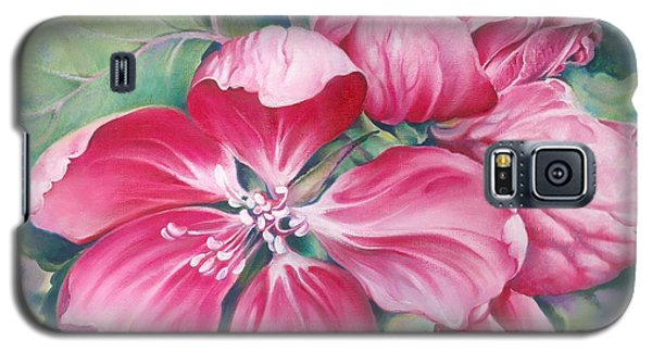 Galaxy S5 Case featuring the painting Flower Of Crab-apple by Anna Ewa Miarczynska