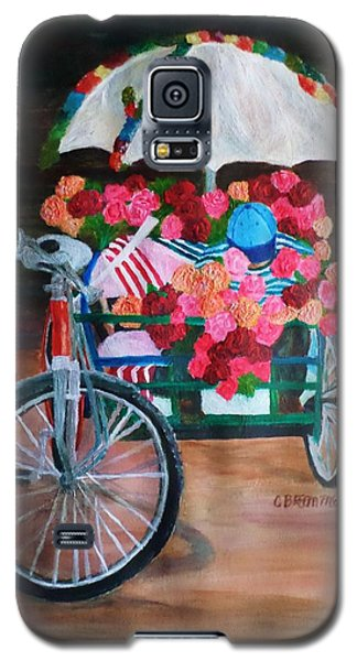 Galaxy S5 Case featuring the painting Flower Peddler by Christy Saunders Church