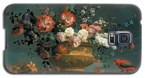 Parakeet Galaxy S5 Case - Flower Piece With Parrot by Jakob Bogdani or Bogdany