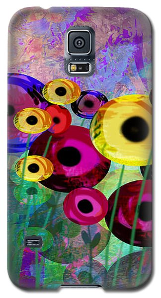 Flower Power Abstract Art  Galaxy S5 Case by Ann Powell