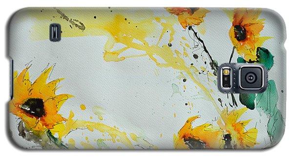 Flower Power- Sunflower Galaxy S5 Case by Ismeta Gruenwald