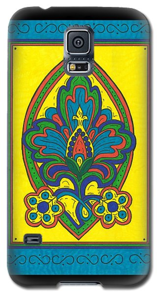 Galaxy S5 Case featuring the painting Flower Power Talavera Style by Susie Weber