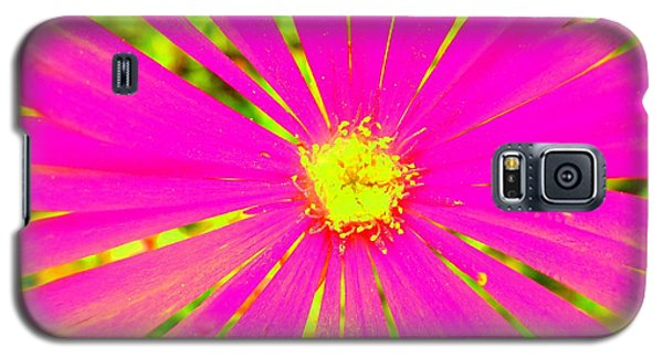 Galaxy S5 Case featuring the photograph Flower Rays by Julia Ivanovna Willhite