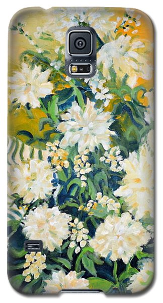 Galaxy S5 Case featuring the painting Flower Study by Julie Todd-Cundiff