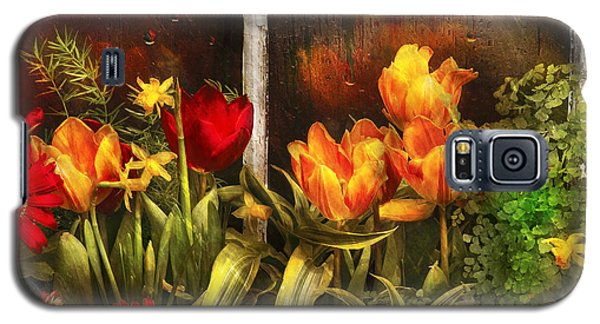Flower - Tulip - Tulips In A Window Galaxy S5 Case
