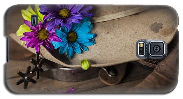 Flowered Hat Galaxy S5 Case by Amber Kresge