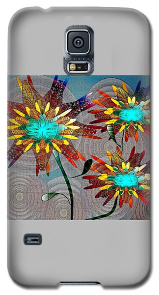 Galaxy S5 Case featuring the drawing Flowering Blooms by Iris Gelbart