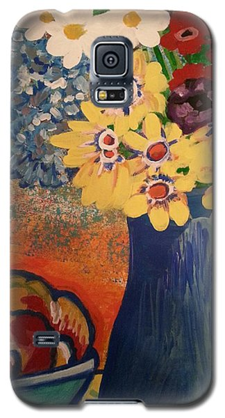 Flowers And Oranges Galaxy S5 Case