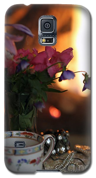 Flowers And Pearls Shabby Chic Wall Art Galaxy S5 Case