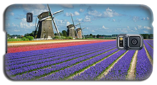 Landscape In Spring With Flowers And Windmills In Holland Galaxy S5 Case
