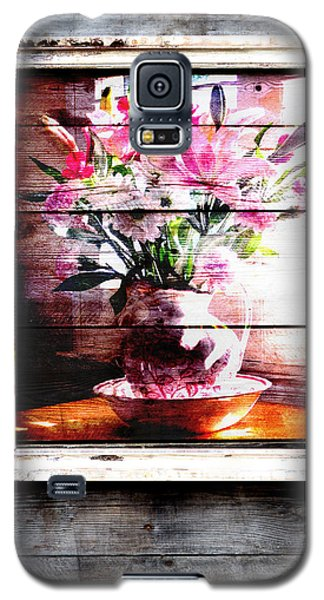 Flowers And Wood Galaxy S5 Case