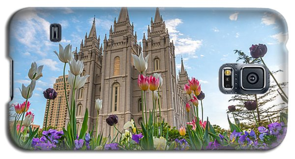 Flowers At Temple Square Galaxy S5 Case