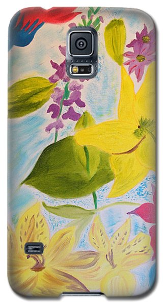 Galaxy S5 Case featuring the painting Flowers For Mom by Meryl Goudey