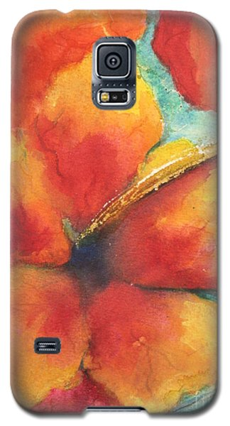 Galaxy S5 Case featuring the painting Flowers In Bloom by Chrisann Ellis