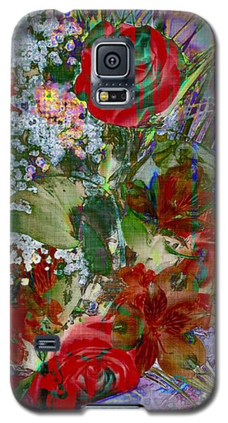 Galaxy S5 Case featuring the digital art Flowers In Bloom by Liane Wright