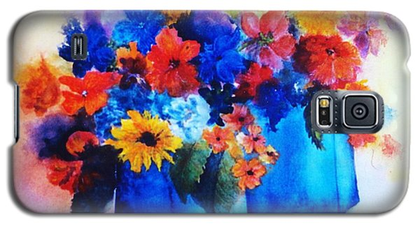 Flowers In Blue Vases Galaxy S5 Case
