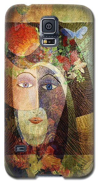 Galaxy S5 Case featuring the digital art Flowers In Her Hair by Arline Wagner