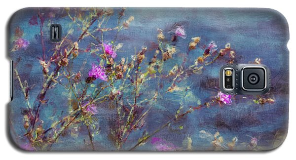 Flowers In Pink And Blue Galaxy S5 Case