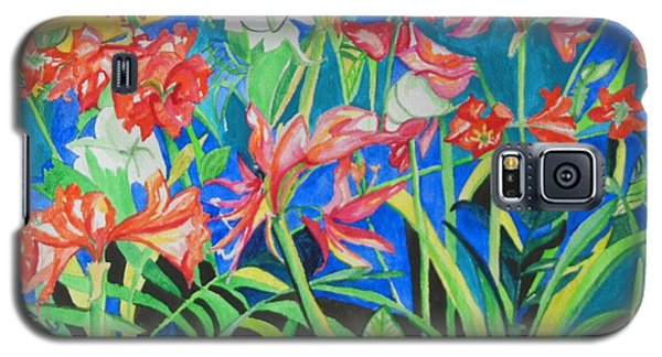 Flowers In Polyphony Galaxy S5 Case by Esther Newman-Cohen