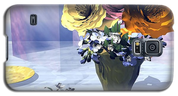 Galaxy S5 Case featuring the digital art Flowers In Vase by John Pangia