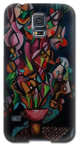 Galaxy S5 Case featuring the painting Flowers by Kim Gauge