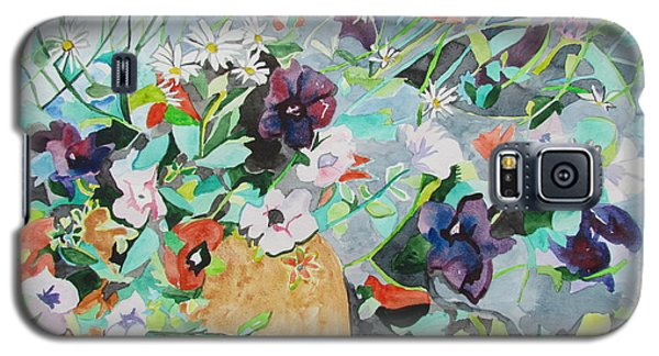 Flowers Light And Dark Galaxy S5 Case by Esther Newman-Cohen