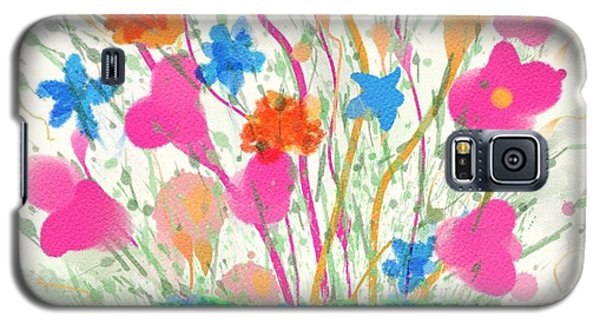 Galaxy S5 Case featuring the digital art Flowers Of Spring by Mary M Collins