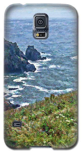 Flowers On Isle Of Guernsey Cliffs Galaxy S5 Case
