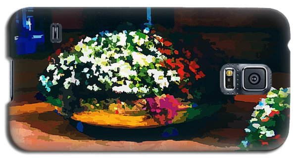 Flowers On The Canal Galaxy S5 Case by P Dwain Morris