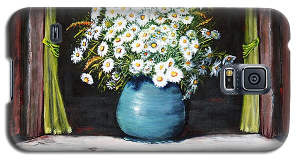 Flowers On The Ledge Galaxy S5 Case