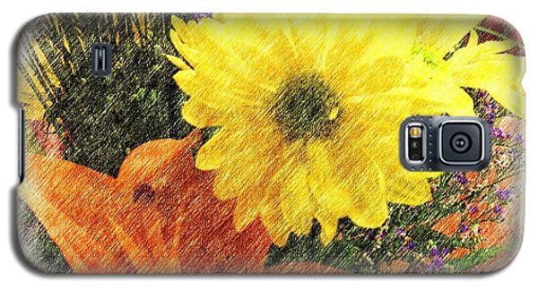 Galaxy S5 Case featuring the photograph Flowers With Love by Luther Fine Art