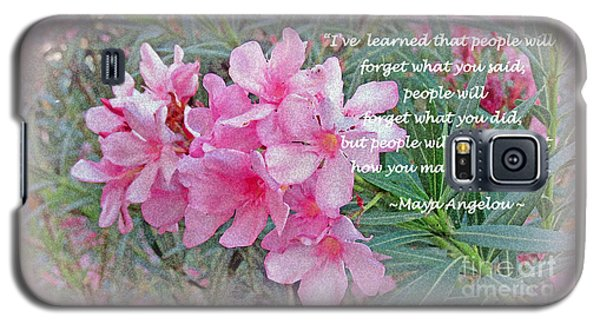 Flowers With Maya Angelou Verse Galaxy S5 Case