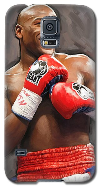 Galaxy S5 Case featuring the painting Floyd Mayweather Artwork by Sheraz A
