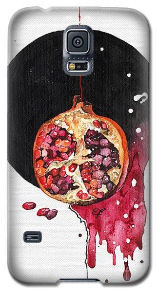 Galaxy S5 Case featuring the painting Fluidity Vii - Elena Yakubovich by Elena Yakubovich