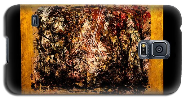 Galaxy S5 Case featuring the painting Flummox by Ron Richard Baviello