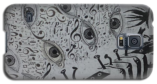 Galaxy S5 Case featuring the mixed media Flute Concerto In Eye Minor by Douglas Fromm