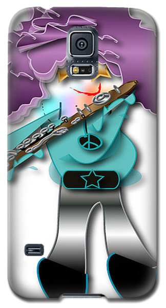 Galaxy S5 Case featuring the digital art Flute Player by Marvin Blaine