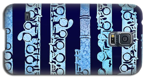 Flutes In Blue Galaxy S5 Case