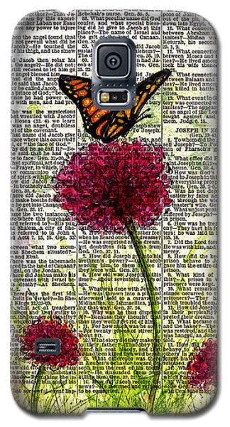 Galaxy S5 Case featuring the painting Flutter By by Melissa Sherbon