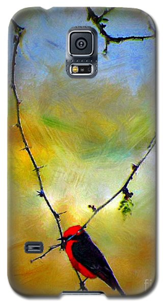 Fly Catcher In Heart Shaped Branch Galaxy S5 Case