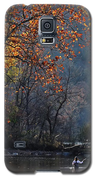 Galaxy S5 Case featuring the photograph Fly Fisherwoman by Denise Romano
