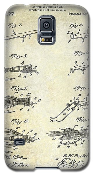 1922 Fly Fishing Lure Patent Drawing Galaxy S5 Case