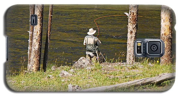 Galaxy S5 Case featuring the photograph Fly Fishing by Mary Carol Story