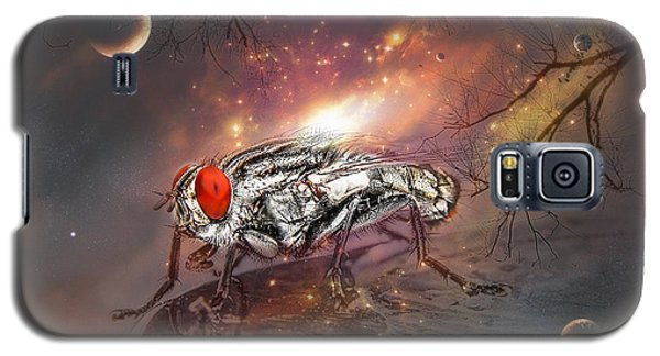 Galaxy S5 Case featuring the digital art Fly From Mars 01 by Kevin Chippindall