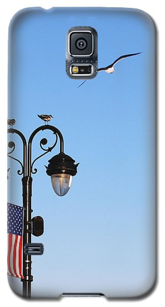 Galaxy S5 Case featuring the photograph Fly To The Moon by Mary Beth Landis